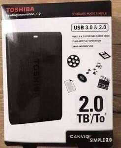 2 TB Toshiba external portable hard drive Scoresby Knox Area Preview