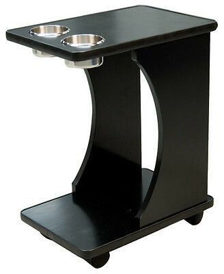 Classic Poker Table Drink Carts Black Color