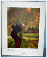 Gary Player Autographed Ltd Edition Lithograph By Bernie Fuchs