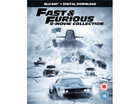 Fast & Furious: 8-Movie Box Set Collection [Blu-Ray] + Ultra Violet Code