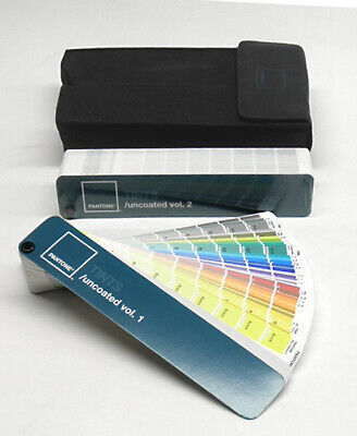 Pantone Tints Uncoated Guide Volumes 1 2 With Case Pms Color Chips