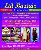 Eid Bazaar at Thorncliffe Banquett Hall,
