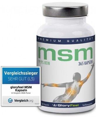 MSM Methylsulfonylmethan Pulver in Kapseln über 90% dosiert organischer Schwefel