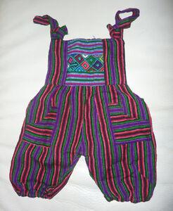 NEW Guatemalan Peruvian Overall Romper Unisex, newborn size