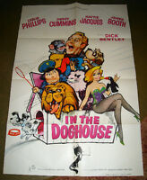 1962 BRITISH MOVIE POSTER IN THE DOG HOUSE VETERINARIAN COMEDY