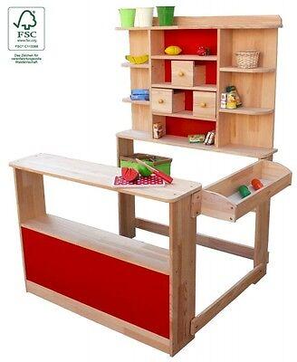 Kaufladen Verkaufsstand Kaufmannsladen Marktstand aus Holz für Kinder 1B-Ware