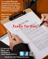 Ready For Hire Testing Services - Sales Reps Wanted