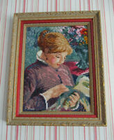 Needlepoint Framed Picture - LADY SEWING - Pierre-Auguste Renoir City of Montréal Greater Montréal Preview