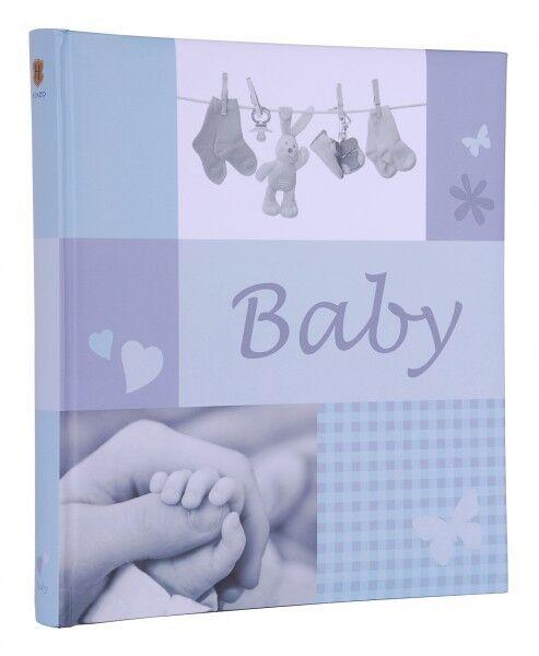 HENZO Babyfotoalbum Junge Album Babyalbum Fotoalbum Geschenk z. Geburt Taufe NEU