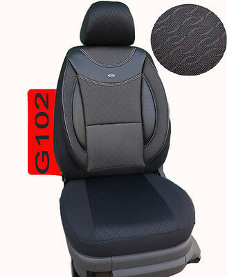 BMW X1 E84 F48 Schonbezüge Sitzbezüge Fahrer /&Beifahrer D107 Schwarz-Beige