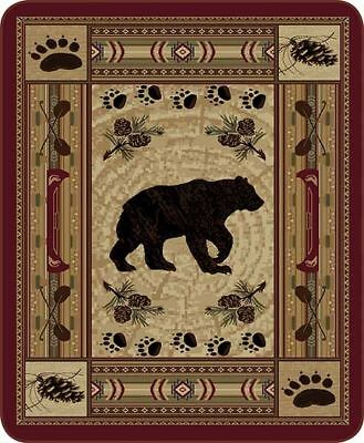 Patchwork Bear (Queen Size Native Bear Patchwork Quilt Mink Faux Fur Blanket Super Soft)