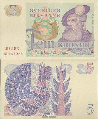 Schweden Pick-Nr: 51c (1972) gebraucht 1972 5 Kronor