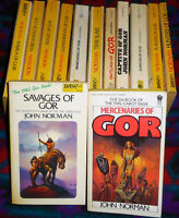 JOHN NORMAN - 15 LOT - GOR SERIES AND 1 TIME SLAVE  -