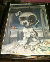' Big Eyes ' Puppies - 2 diff. hand crafted pics