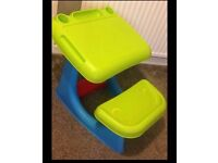 Children's art/homework table with seating