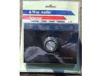 4 way audio selector