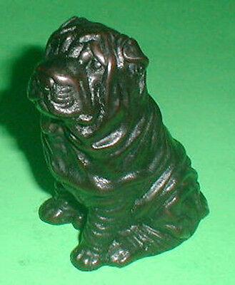 Shar Pei Dog Resin Statue 4.5 inch H handmade AKC