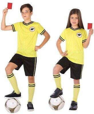 Jungen Mädchen Fußball Schiedsrichter Büchertag Sport Kostüm Kleid Outfit (Schiedsrichter Kostüm Junge)