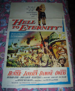 1960 HELL TO ETERNITY WWII PACIFIC BATTLE OF SAIPAN MOVIE POSTER