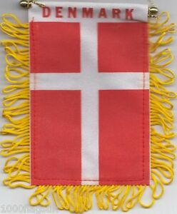 Denmark-Danish-Flag-Hanging-Car-Pennant-for-Car-Window-or-Rearview-Mirror