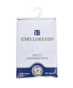 12-Piece-White-Cotton-Mens-Handkerchiefs-H012