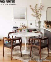 saarinen table marble,tulip, bois,table tulip, oval,carrara,wood