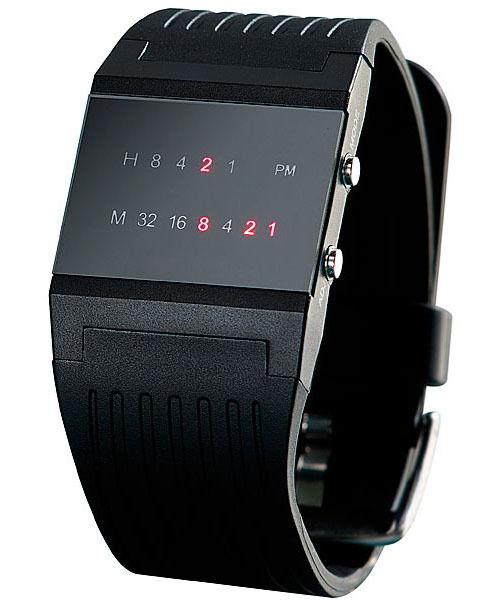 Binär Armbanduhr für Herren Binäruhr mit roten LED's Herrenuhr LED Uhr Männeruhr