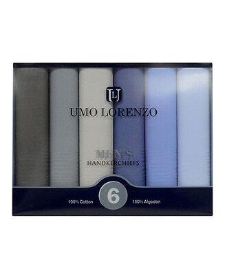 Men's 6pc. Solid Fancy Cotton Handkerchiefs (MSCB1546)