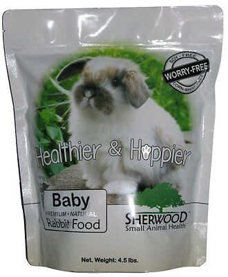 Rabbit Food, Baby by Sherwood - (Soy, Corn & Wheat-free) - 4.5 lb. (Vet Used) for sale  Logan