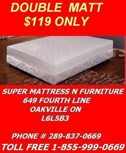 SUPER COMFY MATTRESS SALE DOUBLE ALL FOAM FOR ONLY $119.