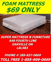 SUPER COMFY MATTRESS SALE TWIN ALL FOAM FOR ONLY $69.