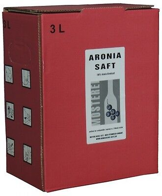 Aronia - succo Succo di frutta 2x 3L Bag nella scatola (4,82€/1l)