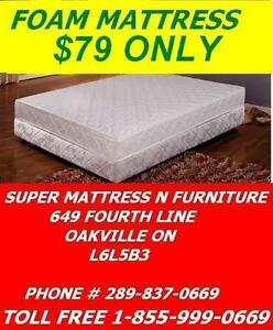 SUPER COMFY MATTRESS SALE TWIN ALL FOAM FOR ONLY $79 DOUBLE AND QUEEN MATTRESS AVAILABLE..