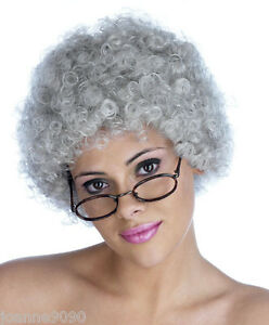 NEW-GREY-GRANNY-OLD-WOMAN-LADY-CURLY-SHORT-POP-FANCY-DRESS-BOOK-WEEK-COSTUME-WIG