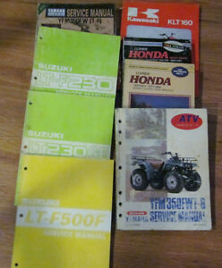 Yamaha Honda Suzuki Kawasaki Genuine Quad Manuals Clymer too