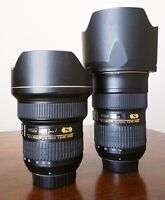 Nikon 14-24mm f/2.8G ED and 24-70mm f/2.8 ED. Asking $1,380 each