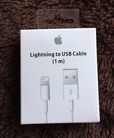 RRP £20 1M Genuine iPhone charger cable for 5 5s 6 6s 7 Plus and Ipod / iPad Air 2 Lightning Charger