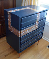 Mid-Century Modern Footstool for the Eclectic Decorator