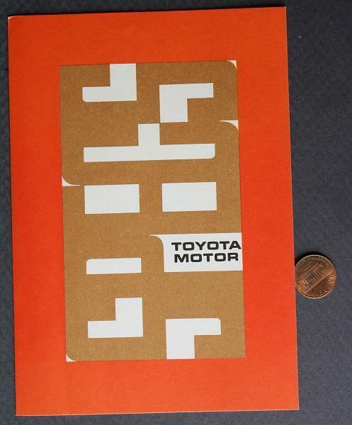1960s Era Toyota Motor Car Co.brochure-Crown-Corona-Stout-Land Cruiser-SCARCE!*