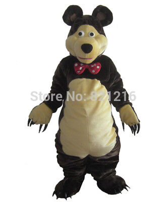 Halloween Bear Mascot Costumes Suits Cosplay Party Dress Outfits Adult Size UK