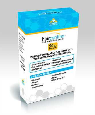 Hair Confirm Hair Follicle Multi Drug Testing Kit For 7 Drugs   Free Shipping