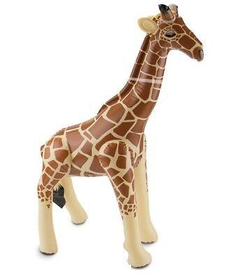 Aufblasbare Giraffe Aufblastier Dschungel Aufblasgiraffe 74x65 cm ()