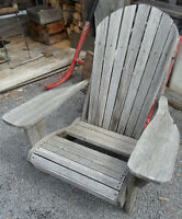 Vintage Cedar Adirondack Chair with 2 Seat boards Missing