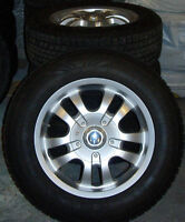 4 pneus d'hiver montés sur mags 16 `....$500.00