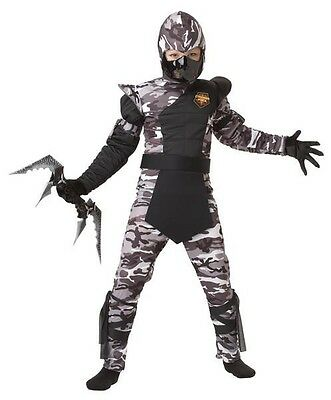 Arctic Force Ninja Japanese Stealth Samurai Warrior Child Costume  (Japanese Samurai Costumes)