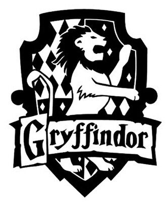 HARRY POTTER GRYFFINDOR COAT OF ARMS/SHIELD CUT VINYL WALL ART STICKER /  DECAL