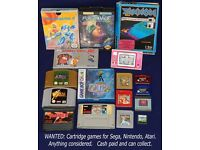 WANTED: Cartridge games for Sega, Nintendo, Atari - Megadrive, Master System, N64, SNES, NES, Jaguar
