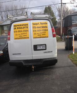 reparation et inspection de fuite de gaz sur fifth wheel,roulott
