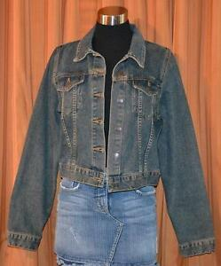 AMERICAN-EAGLE-OUTFITTERS-BLUE-DENIM-JEAN-BUTTON-DOWN-JACKET-WOMENS-LADIES-LARGE