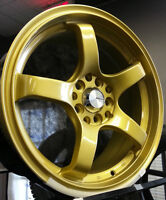 """16"""" Gold alloy package 5x114.3 5x100 + 205/55R16 Goodyear Tires"""